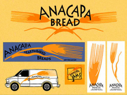 Anacapa bakery logos, labels and signs