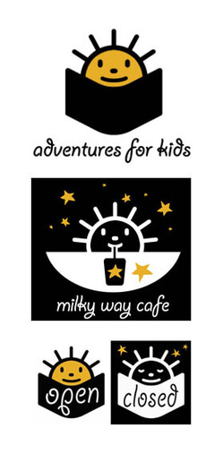 childrens' bookstore signs and logos