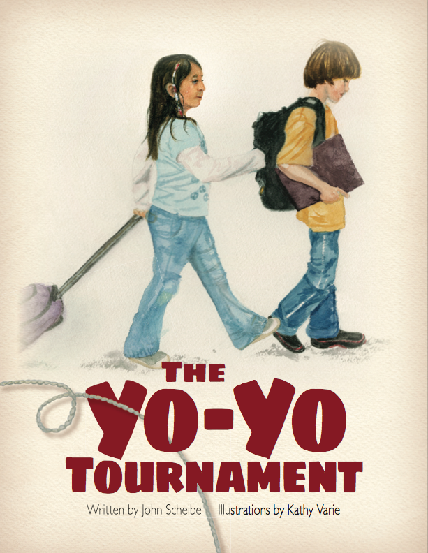 The Yo-Yo Tournament, title page, picture book designed by Siri Weber Feeney