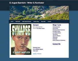 weebly theme customized for D. August Baertlein, writer