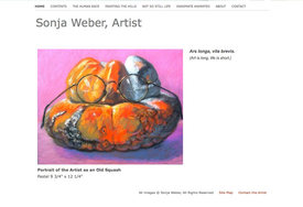 weebly template customized for Sonja Weber, fine artist